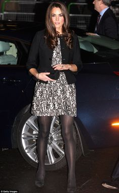 The Duchess of Cambridge arrived at the Royal Albert Hall wearing a Zara lace dress. I <3 Zara!!!