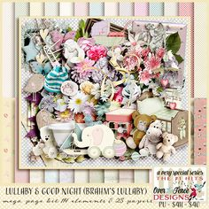 Lullaby and Good Night Page Kit #pattybscraps #digitalscrapbooking #godigitalscrapbooking