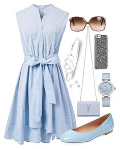 """""""Beautiful Blue"""" by haleigh0705 ❤ liked on Polyvore featuring Chicwish, Elorie, Yves Saint Laurent, Amanda Rose Collection and OMEGA"""