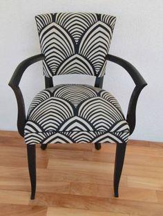 Fauteuil bridge Vintage style Art Déco Decor, Furniture, Wingback Chair, Chair, Home Decor, Art Deco, Comfy Chairs, Refurbishing, Chaise