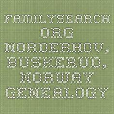 familysearch.org.  Norderhov, Buskerud, Norway Genealogy