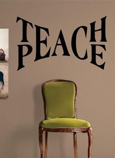 """Teach PeaceThe latest in home decorating. Beautiful wall vinyl decals, that are simple to apply, are a great accent piece for any room, come in an array of colors, and are a cheap alternative to a custom paint job.Default color is black MEASUREMENTS:28"""" x 17"""" About Our Wall Decals:* Each decal is made of high quality, self-adhesive and waterproof vinyl.* Our vinyl is rated to last 7 years outdoors and even longer indoors.* Decals can be applied to any clean, smooth and flat surface. Put them…"""