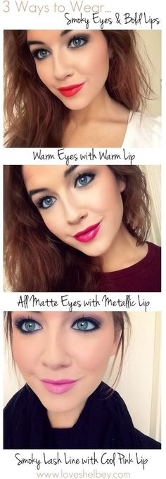 Smokey Eyes & Bold Lips (3 Ways)
