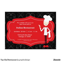 Sold Top #Chef #Restaurant #Invitation #smallbusiness #business Available in different products too. Check more at www.zazzle.com/graphicdesign