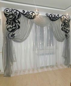 Одноклассники Living Room Decor Curtains, Home Curtains, Modern Curtains, Valance Curtains, Curtain Designs For Bedroom, Kitchen Curtain Designs, Rideaux Design, Luxury Bedroom Furniture, Curtain Styles