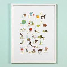 Great Outdoors Alphabet Poster in Framed Wall Art
