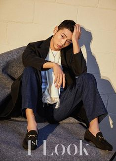 Ji Soo looks incredibly smexy on the cover of Vol. 148 of Look, check it out! He's actually growing a beard along his chiseled jaw line? Asian Actors, Korean Actors, Ji Soo Actor, In The Air Tonight, Asian Love, Joo Hyuk, Le Male, Figure Model, Actor