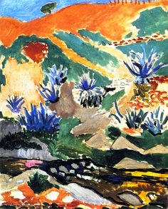 The Aloes (also known as The Brook with Aloes, Collioure) Henri Matisse - 1907