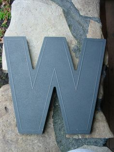 "VINTAGE WAGNER ART DECO 8/"" BLACK MARQUEE SIGN LETTER /""I/"""