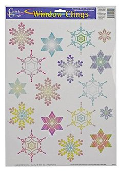 Impact Innovations 12046 Christmas Snowflake Cling 12 x 17 Pack of 24 ** This is an Amazon Affiliate link. Continue to the product at the image link.