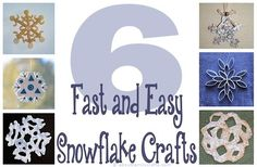 6 Fast and Easy Snowflake Crafts | Learn how to make 6 different fast and easy snowflake crafts -- one an even double as a snack!