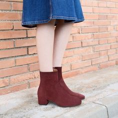 Denim and suede are perfect for fall.