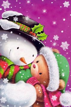 illustrations by S. Christmas Makes, Christmas Snowman, Beautiful Christmas, Winter Christmas, Christmas Time, Vintage Christmas, Christmas Crafts, Christmas Ornaments, Christmas Graphics