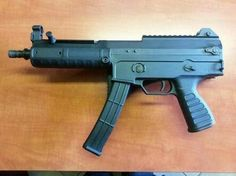 Chinese T-05 9mm Para carbine (butt removed)