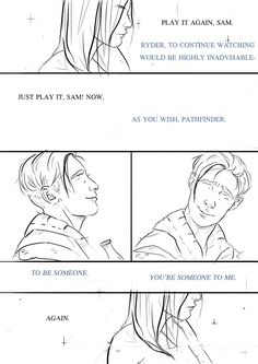 just a stupid lil doodle about Ryder replaying memories after the breakup Take me back to the night we met…