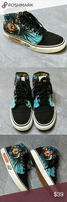 93ecd3bd056b9b RARE Vans Wolverine High Tops These cool shoes are from Vans Off The Wall  in a