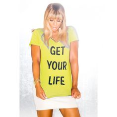 Get Your Life - V-Neck Tee by Tamar Braxton. I have to have this!