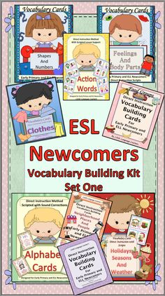 This vocabulary kit is an essential resource for ELL Newcomers. It is an integral part of any language development program for both ELL and General Education learners. The cards were designed to develop growth in vocabulary that is essential for functioning in everyday social and academic situations. There are 242 cards with scripts.$