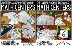Christmas Around the World Math Centers