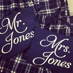 Personalized Mr. and Mrs. Flannel Pajamas, Christmas Pajamas, Flannel Pajamas, Couples Pajamas