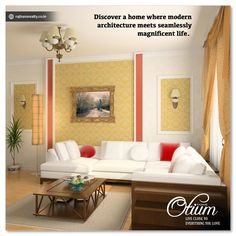 Discover a home where modern architecture meets seamlessly magnificent life. #RajhansOtium