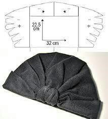 Turban hat diy – printable pattern posted on november 13 2012 printable patterns diy tutorials with free printable patterns Sewing Patterns Free, Free Sewing, Sewing Tutorials, Clothing Patterns, Hat Patterns To Sew, Free Pattern, Sewing Diy, Sewing Projects, Sewing Clothes