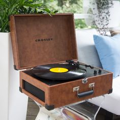 Crosley Keepsake Turntable - If you can't bear to live without your vinyl albums, yet can't seem to find the time to fire up the record player, the Crosley Keepsake...