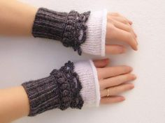 Modern Women Crochet Fingerless Warm Mittens   Trendy Mods.Com