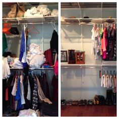 You can barely tell it's the same closet! #twirled #occasionalwife