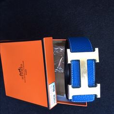 Blue belt-Hermes Great quality  nice Hermes brand new belt. Looks real. Written in the box 110c. Ull be surprise with the quality Accessories Belts