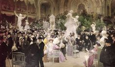 Friday At The Salon by Jules Alexandre Grun