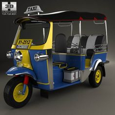 Tuk-Tuk Thailand 1980 3d model from humster3d.com. Price: $75