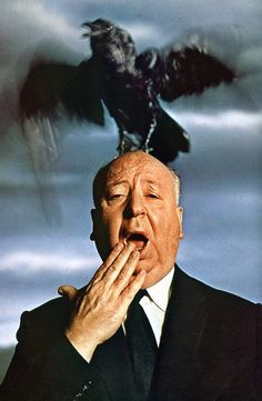 Alfred Hitchcock and Bird by Pin-up Magazines, via Flickr