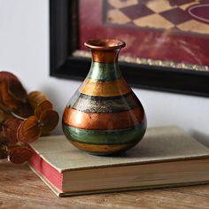Slate Stripe Color Infusion Mini Vase | Kirklands