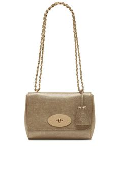 8284d200e8 Mulberry Lily in Metallic Mushroom Goat. Crossbody Shoulder BagLeather ...