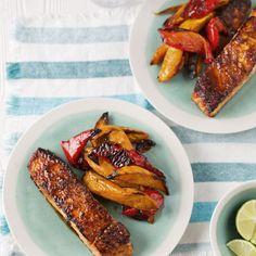 Seared spicy salmon recipe