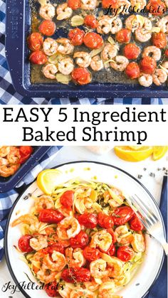 Sheet pan oven baked shrimp with garlic is the perfect weeknight no-fuss meal. The simplest ingredients can transform into a culinary delight. Low Carb Lunch, Low Carb Dinner Recipes, Lunch Recipes, Paleo Recipes, Banting Recipes, Keto Dinner, Clean Recipes, Yummy Recipes, Baked Shrimp