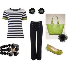 Black and Lime Green, created by kulowt.polyvore.com