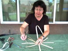 This is Nancy Jacobs a master basket weaver. Her youtube videos are incredibly good showing you techniques and different styles. www.basketmasterweavings.blogspot.com