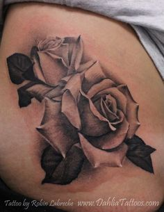 Beautiful roses done by Robin Labreche of Dahlia Tattoo