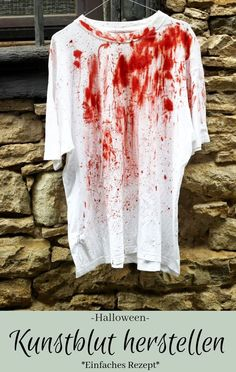 DIY: Kunstblut selber machen - Einfache Herstellung für künstliches Blut - Schritt für Schritt Anleitung / Ideal für Halloween Deko Blood Simple, Fake Blood, Diy Party Decorations, Diy Fashion, Lace, Creative, How To Make, Outfits, Inspiration