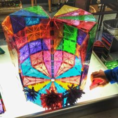 """5 year-old Magna-Tect Oskar says, 'My dad is an architect, so he could draw the plans for us to make it real"""" Great #magnatiles architecture by @marlatelierista #magnatiles #math #science #creativity"""