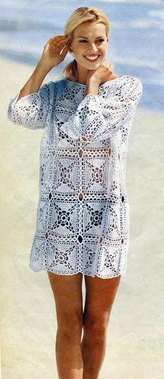 Seja como vestido ou uma bela saída de praia.. não é um linda peça?          GRAFICO CLIQUE AQUI