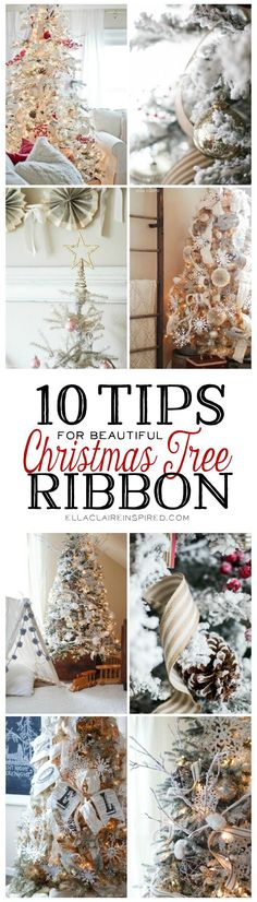 Make your Christmas tree extra gorgeous this year using these 10 tips for beautiful Christmas ribbon. Find all of the details here at ellaclaireinspired.com