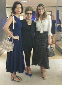 Fabiana Scaranzi, Patrícia Monteiro e Costanza Pascolato. Nova coleção da Dior.