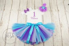 purple and teal birthday purple and teal tutu 1st by lePetitePosh