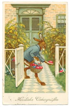 Easter Bunny Hides Eggs at the Front Fence