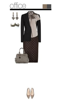 """""""Office outfit: Black - Taupe"""" by downtownblues on Polyvore featuring Reiss, Roland Mouret, Picard, Sevan Biçakçi, Child Of Wild, pencilskirt and officewear"""