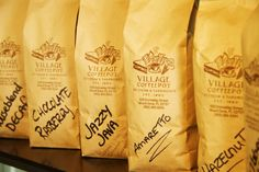 Gourmet Coffee Village Coffee, Gourmet Sandwiches, Homemade Ice Cream, Latte, Food, Home Ice Cream, Coffee Milk, Meal, Eten