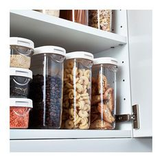 IKEA 365+ Dry food jar with lid - 44 oz - IKEA :: $3 (also comes in a supertall 2qt size for $4)